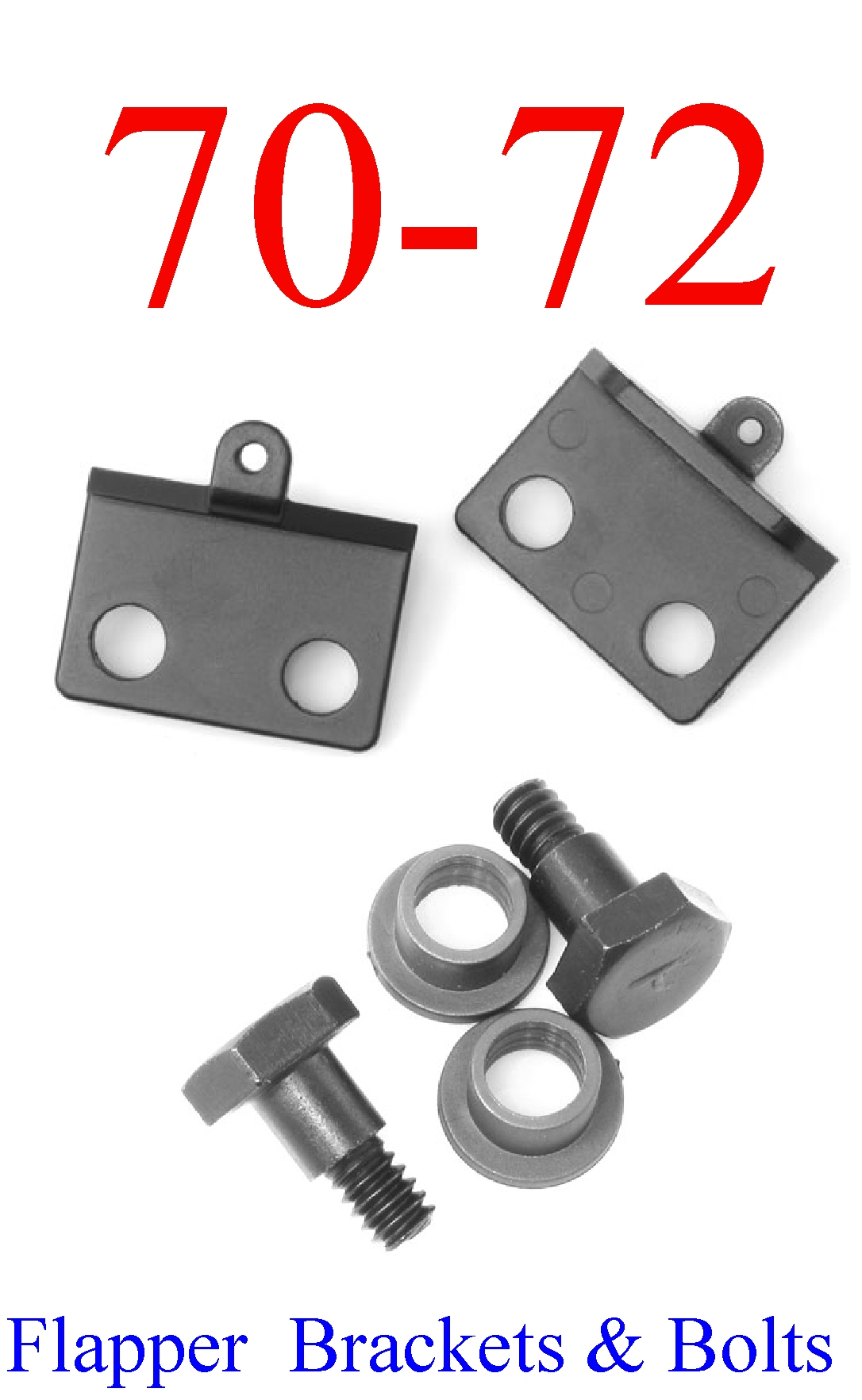 70-72 Chevy Chevelle SS 6Pc Flapper Door, Bolt & Bushing Kit